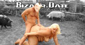 Blonde Drecksau will gefickt werden.